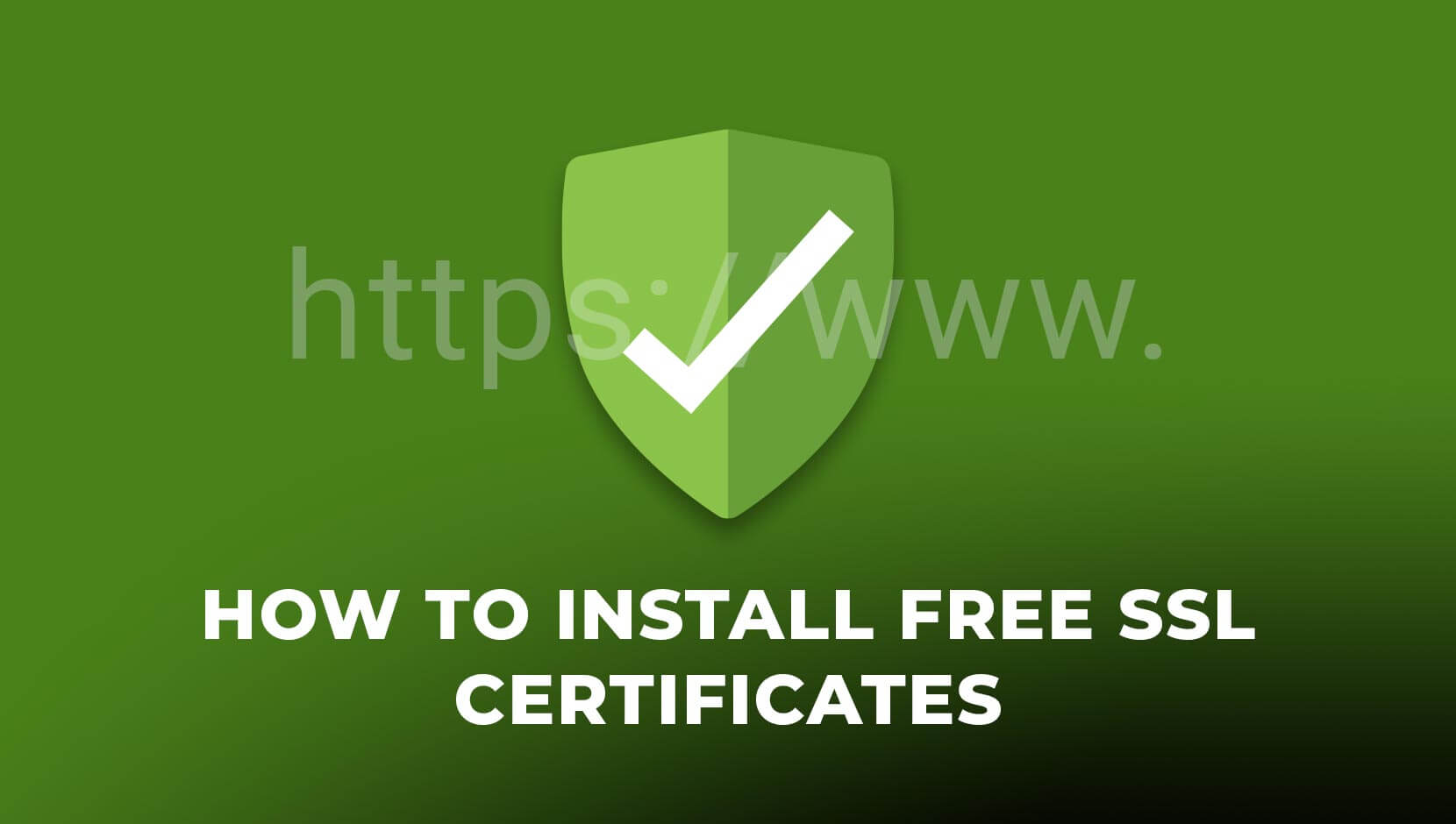 How To Install Free SSL Certificates