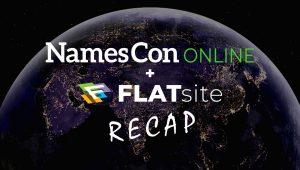 NamesConOnline + FLATsite 2020 Recap