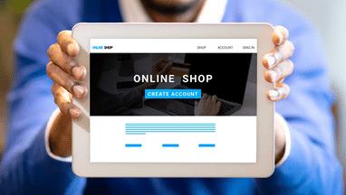 Online shop on tablet