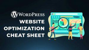 WordPress Website Optimization Cheat Sheet