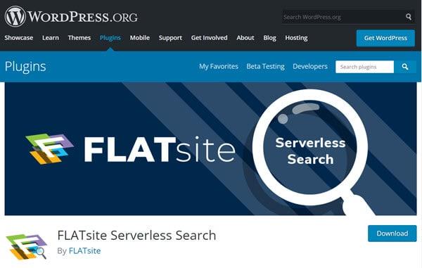 serverless search on WP plugins
